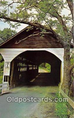 cou101067 - Covered Bridge Vintage Postcard