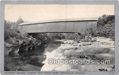 cou101072 - Covered Bridge Vintage Postcard