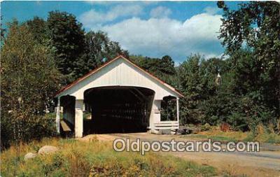 cou101073 - Covered Bridge Vintage Postcard