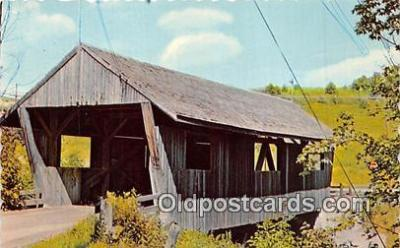 cou101089 - Covered Bridge Vintage Postcard
