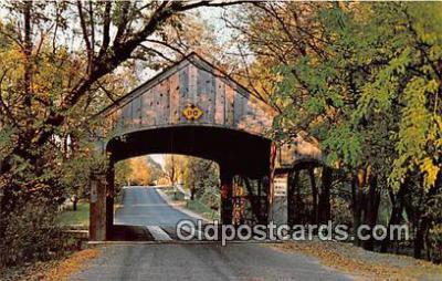cou101098 - Covered Bridge Vintage Postcard