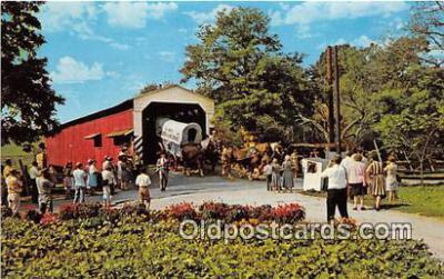 cou101113 - Covered Bridge Vintage Postcard