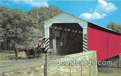 cou101114 - Covered Bridge Vintage Postcard