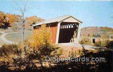cou101117 - Covered Bridge Vintage Postcard