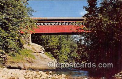 cou101122 - Covered Bridge Vintage Postcard
