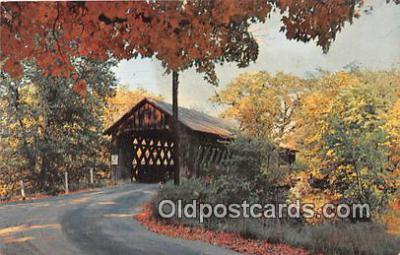 cou101167 - Covered Bridge Vintage Postcard