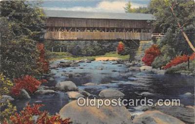 cou101184 - Covered Bridge Vintage Postcard