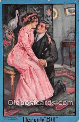 cps001201 - Couples Romance Vintage Postcard