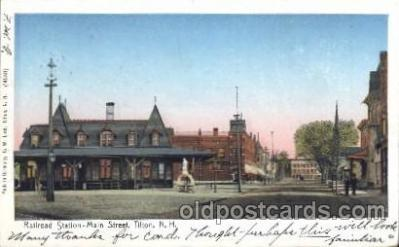 Railroad station Titon, N.H. USA