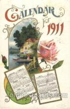 cal001003 - 1911 Calendar Postcard Post Card