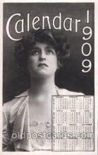 cal001007 - 1909 Calendar Postcard Post Card