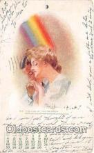 cal001024 - Calander Vintage Postcard
