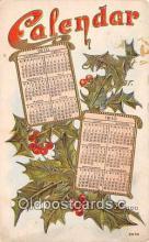 cal001026 - Calander Vintage Postcard