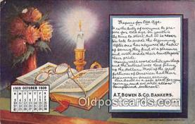cal001029 - Calander Vintage Postcard