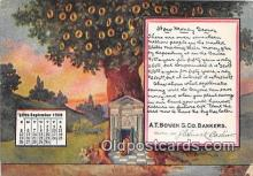 cal001031 - Calander Vintage Postcard