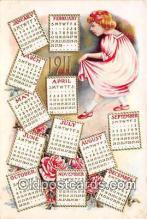 cal001041 - Calander Vintage Postcard