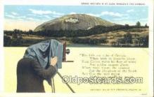 cam001409 - Stone Mountain Camera Postcard, Post Card Old Vintage Antique