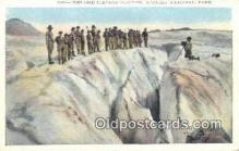 cam001443 - Crevasse Stevens Glacier, Rainer National Park, Washington, USA Camera Postcard, Post Card Old Vintage Antique