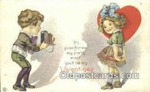 cam001455 - Valentine Camera Postcard, Post Card Old Vintage Antique