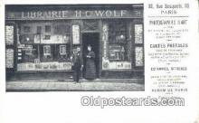 cam001509 - Librairie HC Wolf, 30 Rue Bonaparte, 30 Paris France Camera Postcard, Post Card Old Vintage Antique