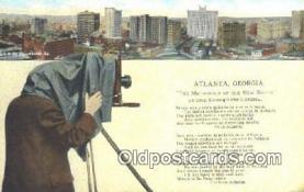 cam001576 - Atlanta Georgia Camera Postcard, Post Card Old Vintage Antique