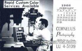 cam001581 - Cornelius Photography, Tulta, OK USA Camera Postcard, Post Card Old Vintage Antique