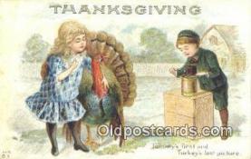 cam001584 - Thanksgiving Camera Postcard, Post Card Old Vintage Antique