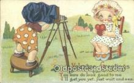 cam001585 - Valentine Camera Postcard, Post Card Old Vintage Antique