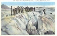 cam001617 - Crevasse Stevens Glacier, Rainer National Park, Washington, USA Camera Postcard, Post Card Old Vintage Antique