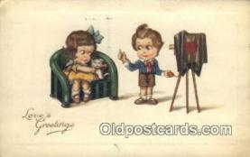 cam100006 - Camera Postcard Post Card Old Vintage Antique