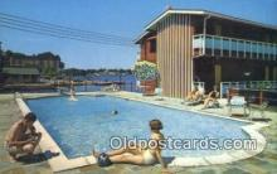 cam100109 - Catain Thomson's Motor Lodge, Alexandria Bay, NY USA Camera Postcard Post Card Old Vintage Antique