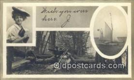 cam100216 - Camera Postcard Post Card Old Vintage Antique