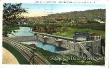 can001001 - Erie Canal, Mowawk River, Little Falls, NY, USA Canal, Canals, Postcard Post Card