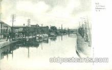 can001015 - Dock Street Schenectady, New York, NY USA Canal, Canals, Postcard Post Card