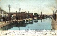can001016 - Dock Street Schenectady, New York, NY USA Canal, Canals, Postcard Post Card