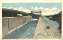 can001017 - Big Lock, The Highest Lift Lock in World, Little Falls, NY, USA Canal, Canals, Postcard Post Card