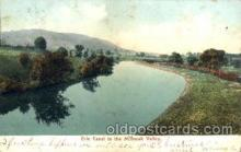 can001025 - Erie Canal in the Mohawk Valley, NY USA Canal, Canals, Postcard Post Card