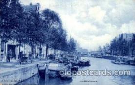 can100002 - Amsterdam, Gelderschekade Canal, Canals, Postcard Post Card