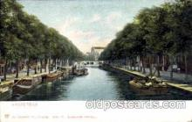 can100003 - Amsterdam, Prinsengracht B.D. Vijzeistraat Canal, Canals, Postcard Post Card