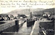 can100009 - SS Gondolier In The Locks, Fort Augustus Canal, Canals, Postcard Post Card
