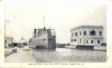 can150002 - Freighters Leaving Upper Level Lock No 3  Canal, Canals, Postcard Post Card