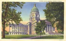 cap001003 - Topeka, Kansan, USA State Capitol, Capitols Postcard Post Card