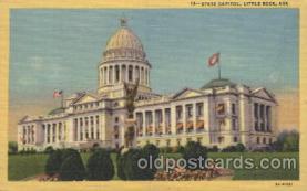 cap001019 - Little Rock, Ar,  Arkansas State Capitol, Capitols Postcard Post Card