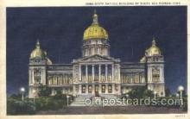 cap001025 - Des Moines, Iowa, Ia, USA State Capitol, Capitols Postcard Post Card