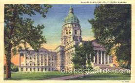 cap001035 - Topeka, Kansan, Ks,  USA State Capitol, Capitols Postcard Post Card
