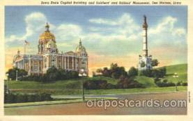 cap001040 - Des Moines, Iowa, Ia, USA State Capitol, Capitols Postcard Post Card
