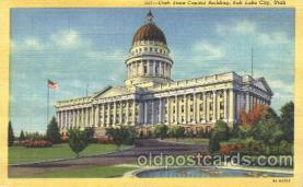 cap001048 - Salt lake City, Utah, Ut, USA State Capitol, Capitols Postcard Post Card
