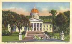 cap001059 - Monpelier, VT., Vergin Islands, USA State Capitol, Capitols Postcard Post Card