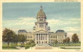 cap001062 - Springfield, ILL., Illinois, USA State Capitol, Capitols Postcard Post Card