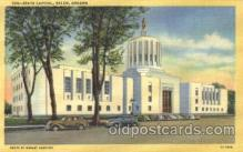 cap001063 - Salem, Oregon, Or, USA State Capitol, Capitols Postcard Post Card
